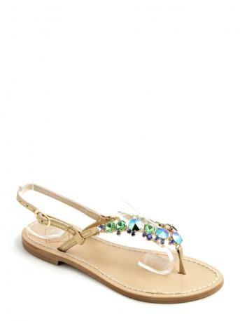 floral embellished sandals - Blue Emanuela Caruso Capri 2Tosv