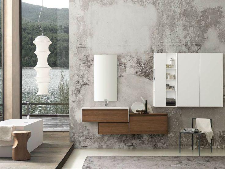 Wooden bathroom furniture set REFINED by Pedini
