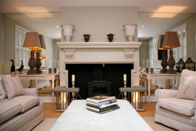 Beautiful Use Of Mirrored Glass In Alcoves To Enlarge The Room. Optiwhite  Mirror Glass From