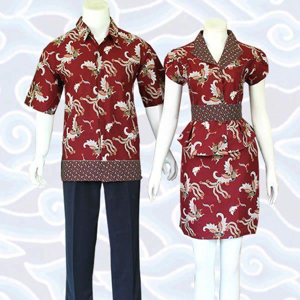 batik sarimbit modern marun SB187 koleksi lengkap di http://sekarbatik.com/batik-sarimbit-couple/