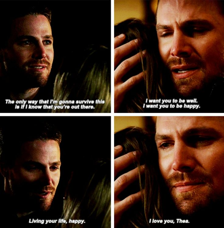 """#3x20 // #5x08 -- """"Oliver saying goodbye to the two most important women in his life, saying that he just wants them to be happy."""" #Arrow"""