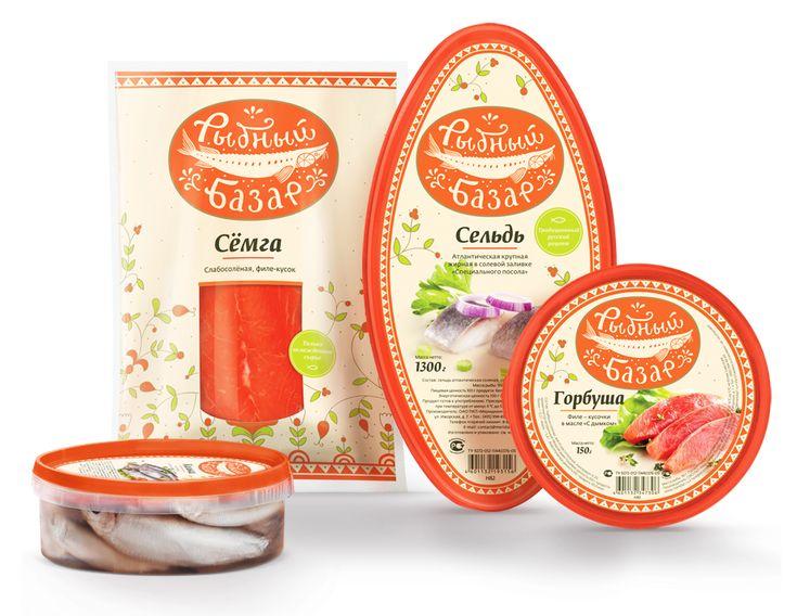Рыбный базар: Товарный брендинг, Дизайн упаковки pretty #seafood #packaging. Notice the little fish : ) PD