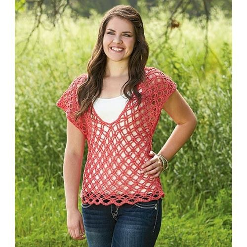 Spring Fever Crochet Top | Perfect for the warmer months.  Easy to crochet, easy to wear.