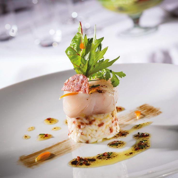 Bar de ligne, risotto de chorizo ibérique   Arts & Gastronomie