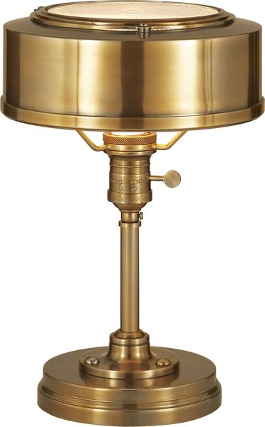 Limited Production Design Limited Stock: Classic Victorian Desk Lamp * Rubbed Antique Brass * H: 13 x 8 inches