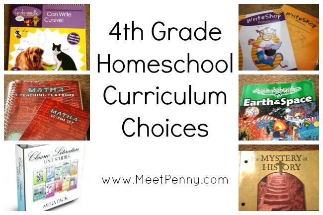 4th grade homeschool curriculum recommendations
