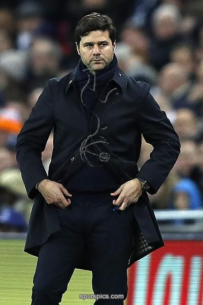 Tottenham Hotspur's Argentinian head coach Mauricio Pochettino gestures on the touchline during the UEFA Champions League group E football match between Tottenham Hotspur and Bayer Leverkusen at Wembley Stadium in north London on November 2