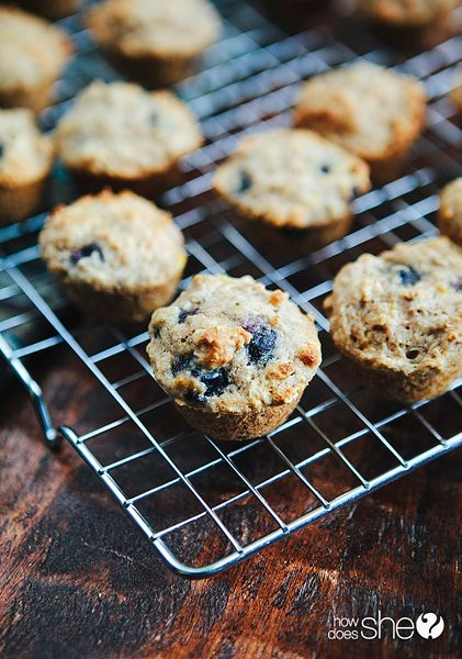 Food and Drink. These Blueberry Oatmeal Power Muffins are filling and taste so good! howdoesshe.com