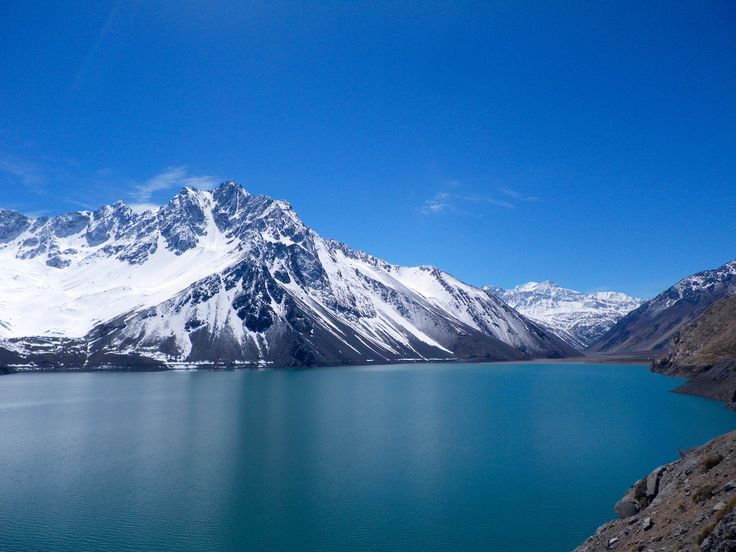 Cajon del Maipo laguna yeso, a lake in the mountains. Roadtrip day tour with Ecochile travel