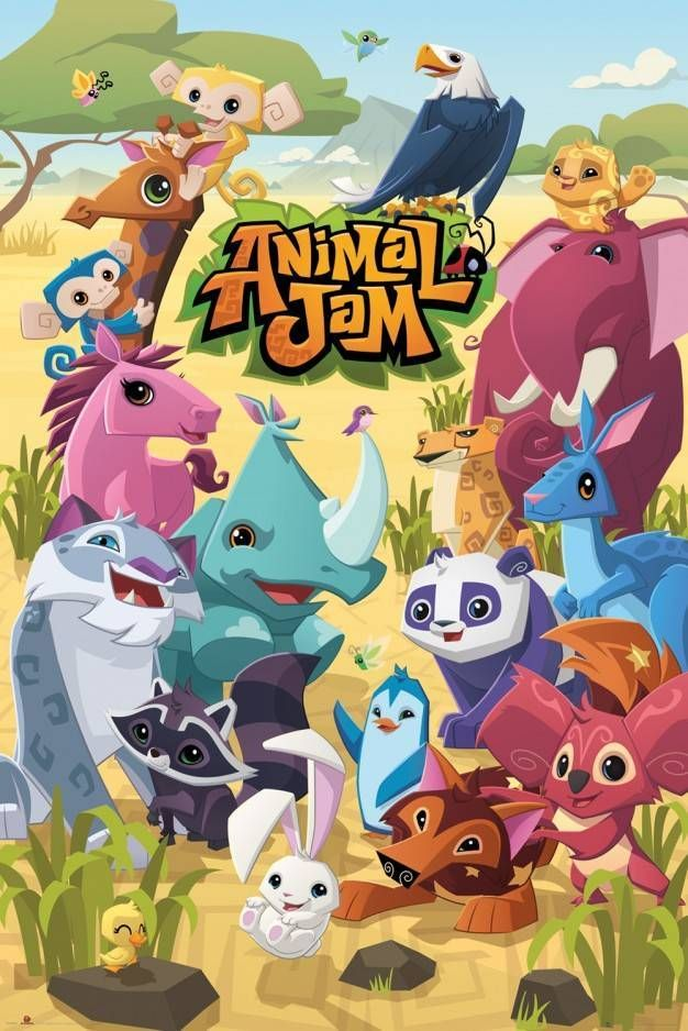 Animal Jam Cast Maxi Poster