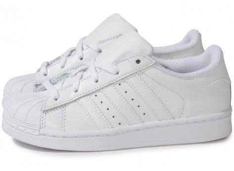 Chaussures adidas SUPERSTAR FOUNDATION BLANCHE ENFANT vue extérieure