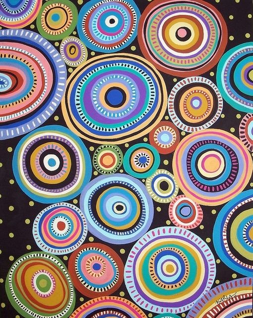 Folk Circles1. Acrylic on canvas by Karla Gerard. I've become a huge fan of her work. by regina