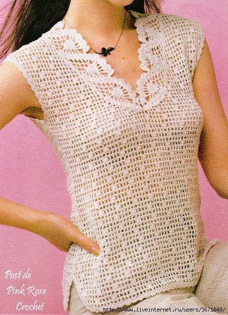 Irish crochet &: CROCHET BLOUSE ... БЛУЗА                              …