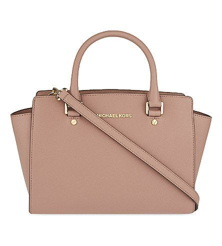 MICHAEL MICHAEL KORS Selma medium Saffiano leather satchel (Dusty rose)