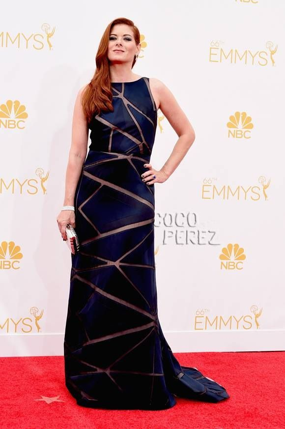 Debra messing at Emmys 2014