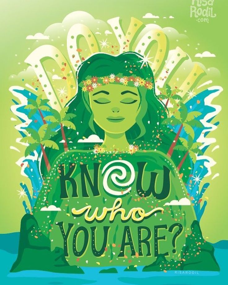 Do you know who you are? Beautiful fan art based on Moana for Earth Day
