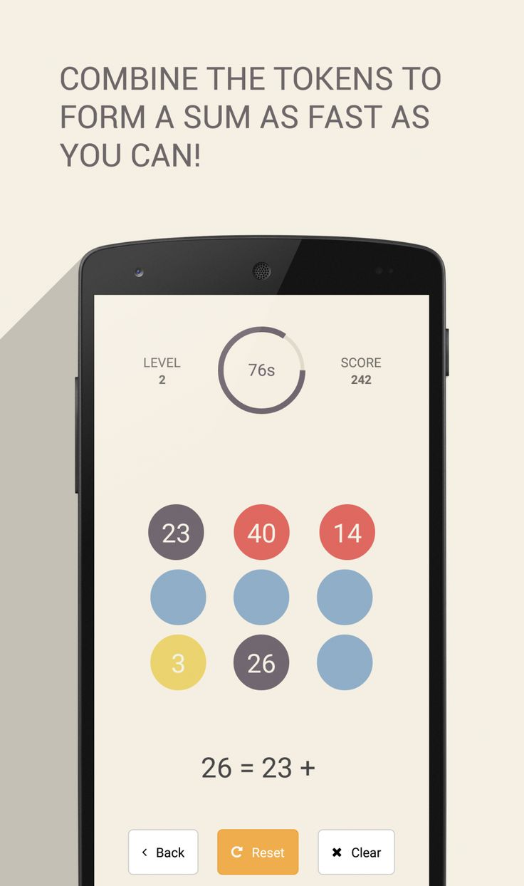 Signa Android UI Design Community — Sum (mathematics game) by Rajat Vaghani