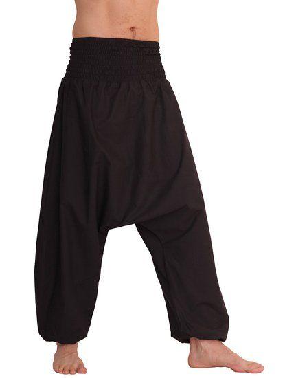 Leucht-Welten lange Aladinhose für Herren 100 % Baumwolle, schwarz