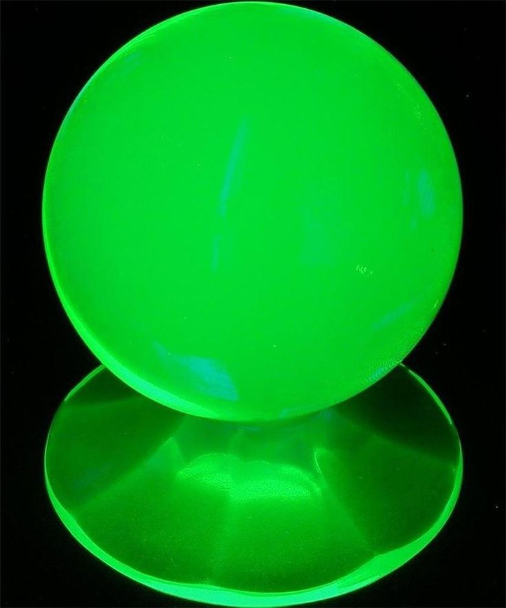 "Light Green Uranium Vaseline Czech Glass Paperweight On Stand 2-3/4"" 70mm Tall"