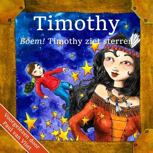 Boem! Timothy ziet sterren   Karin van Driel: Timothy heeft een nieuw buurmeisje en wil graag met haar kennismaken. Toch durft hij het niet…