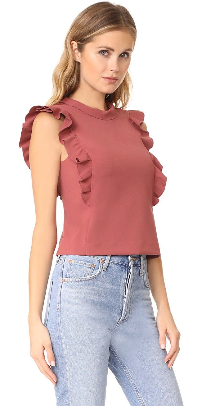 Rebecca Taylor Ruffle Suit Top | SHOPBOP