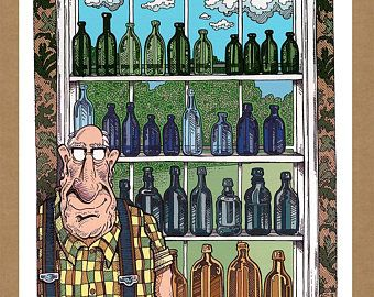 THE WALTER SERIES - Walter's Bottle Collection - Limited Edition Digital Art Print - Current print #1 of 50