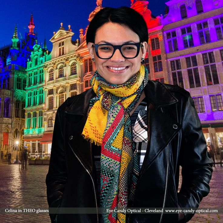 Celina rocks Brussels city square in her fabulous new designer glasses by Theo.  Theo – Loves You and Eye Candy brings You the finest European Eyewear Fashion! Eye Candy Optical Cleveland – The Best Glasses Store! (440) 250-9191 - Book an Eye Exam Online or Over the Phone  www.eye-candy-optical.com