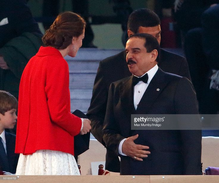 Hamad Bin Isa Al Khalifa Of Bahrain Attend The Final Night Queens Birthday Celebrations Being Held At Royal Windsor Horse Show In Home Park