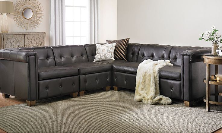 Picture of In Pelle Trapuntata Leather Sectional Sofa