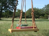 Featured on hgtvgardens.com! Enjoy some fresh air on this classic swing. It comes in three different sizes in red, orange, yellow or blue.