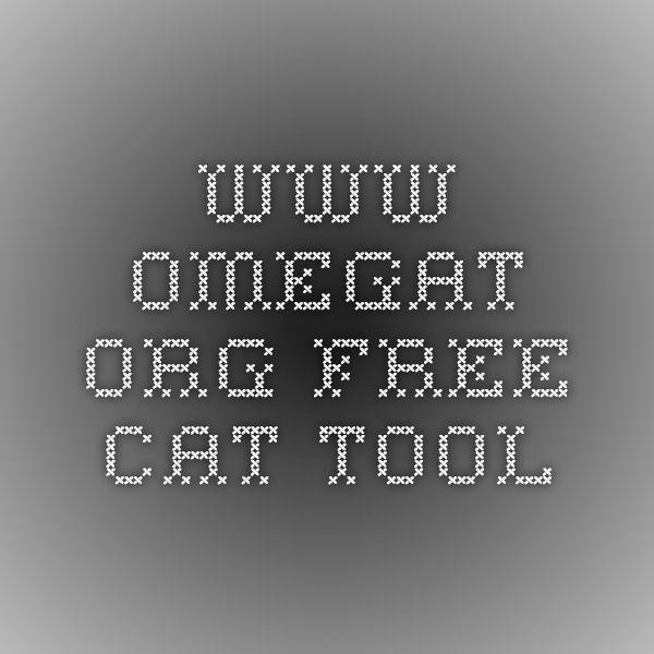 www.omegat.org Free CAT tool