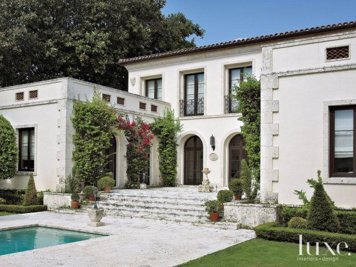 From Luxe Interiors Design A Mediterranean Revival Home In Miami Beach