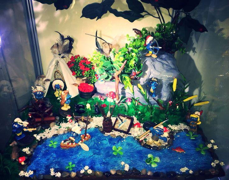 Indian smurf Village display