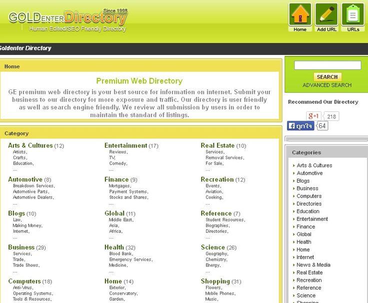 Goldenter Premium Web Directory http://www.goldenter.com/