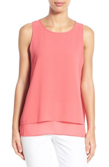Bobeau Tiered Split Back Top available at #Nordstrom