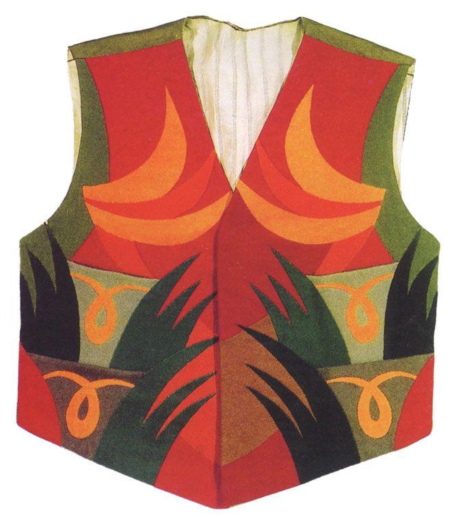 Italian Futurist, Fortunato Depero, Panciotto vest, 1923, Milan, private collection