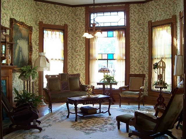 Victorian Interior, The Living Room, Parlor Eastlake