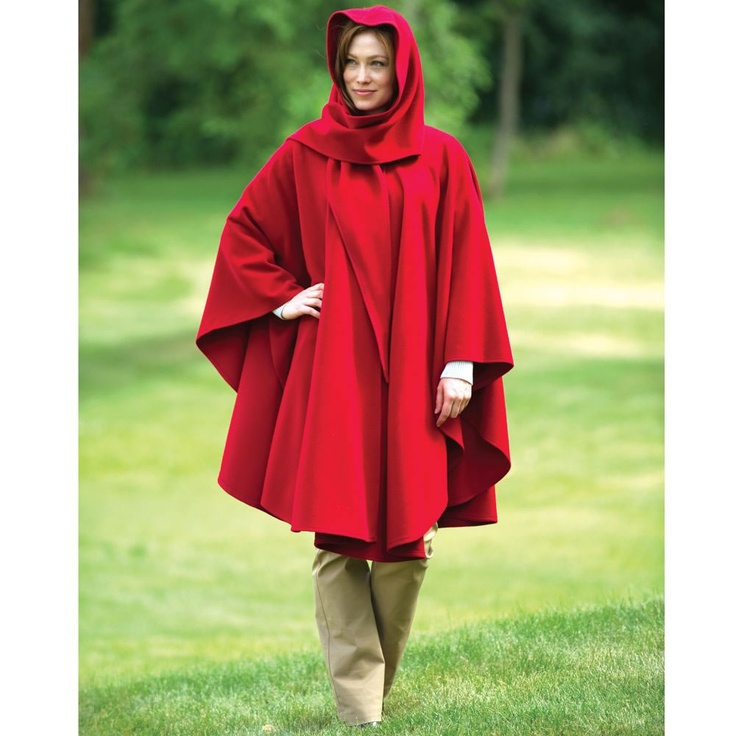 The Cashmere Walking Cape - Hammacher Schlemmer - This cape warms its wearer with cashmere during blustery moors walks or casual downtown strolls.