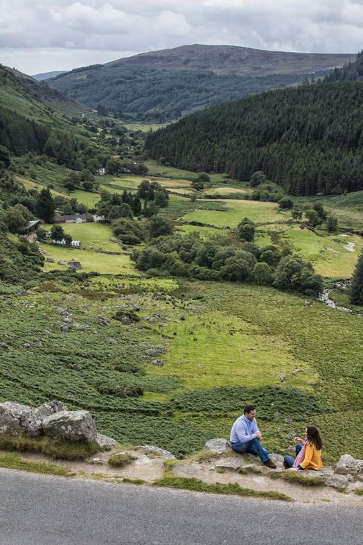 """Glenmacnass is a perfect example of the beauty of the Irish language: meaning """"the glen of the hollow of the waterfall"""", Glenmacnass is a glacial valley carved from the Wicklow landscape during the Ice Age, 2.5 million years ago."""