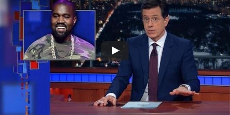 Stephen Colbert Responds To Kenye West's Cry For Help In The Most Hilarious Way Possible