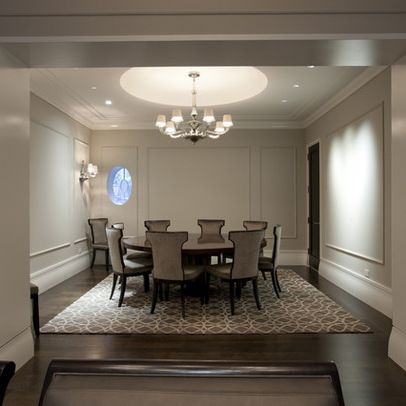 Wall Moulding Panels Design Ideas Pictures Remodel And Decor Living Dining Rooms Round Tables