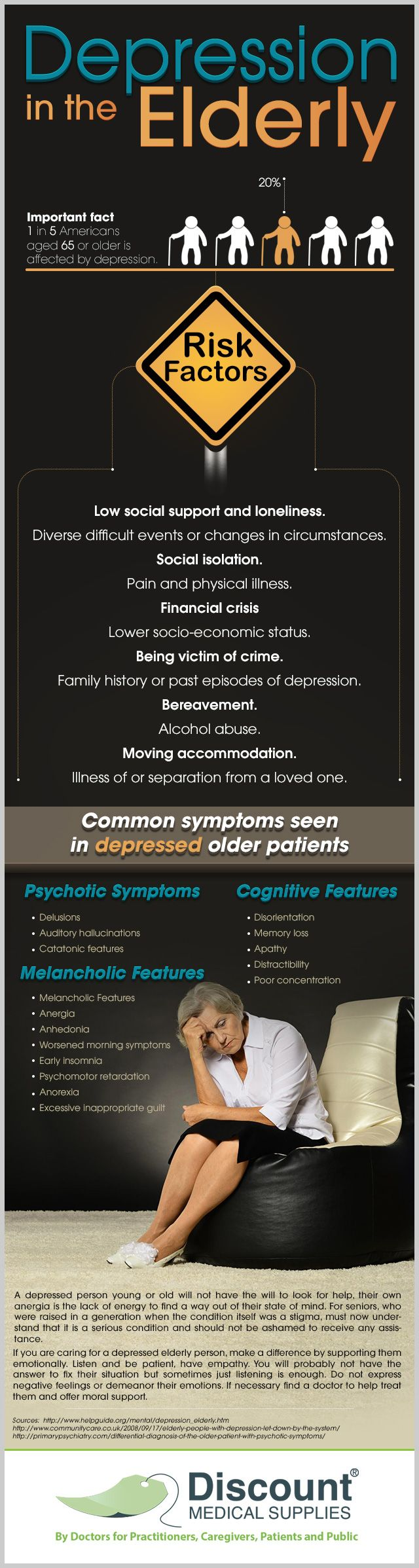 Depression in the Elderly #Infographic #Depression (Happy to pin for other site but you should also check out my page: www.greenwoodcounselingcenter.com )