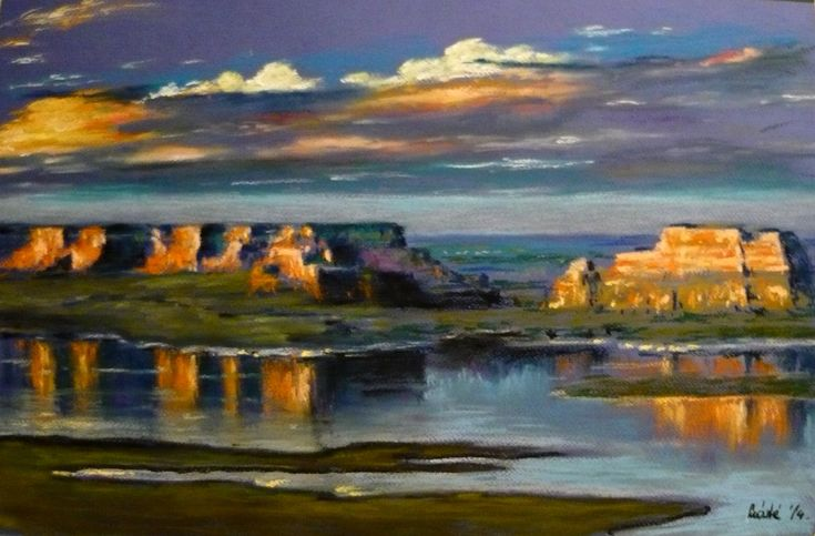 Pastel landscape by Máté Sándor
