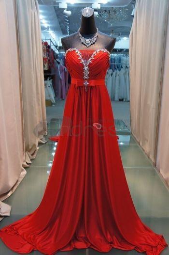 Abiti da Sera Eleganti-2012 sexy reggiseno rosso coda abiti da sera eleganti