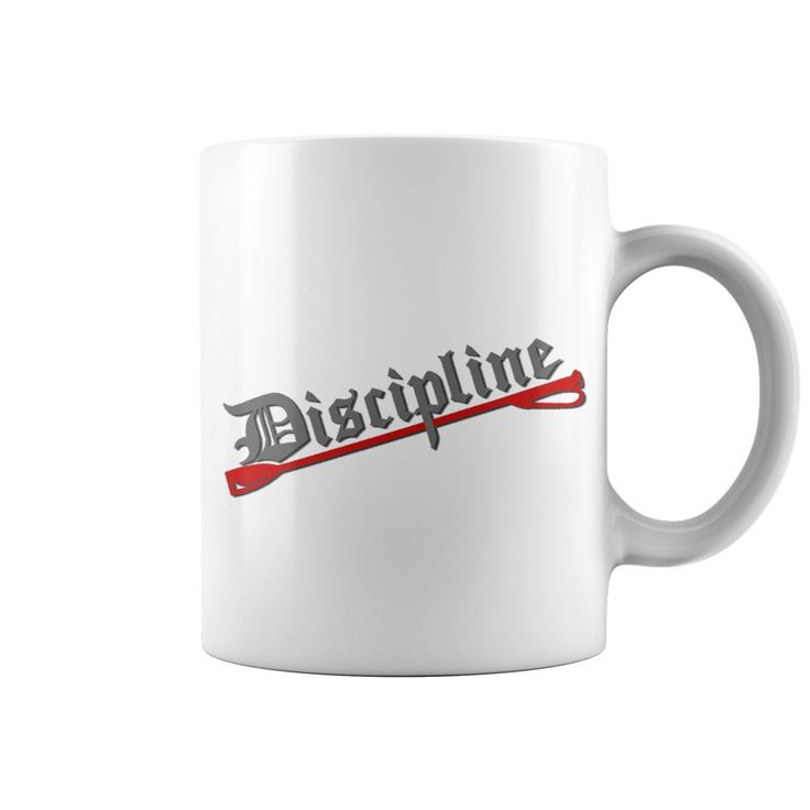 #Discipline #red whip gray letters BDSM bondage style #mug #sexy #kinky #naughty #adult #design #erotic #dirty