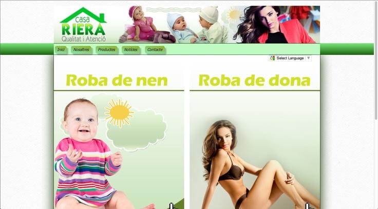 Proyecto de diseño web en el que se realizó una página web completa para una tienda física de ropa de niño y mujer.