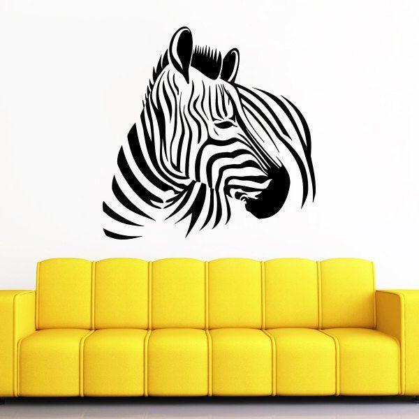 Zebra Print Vinyl Sticker Wall Art