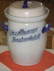 German sauerkraut crock with waterseal