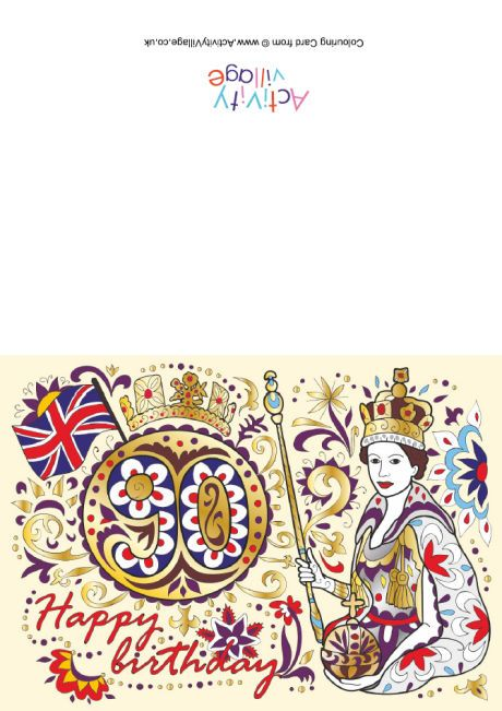 Queen's 90th birthday card