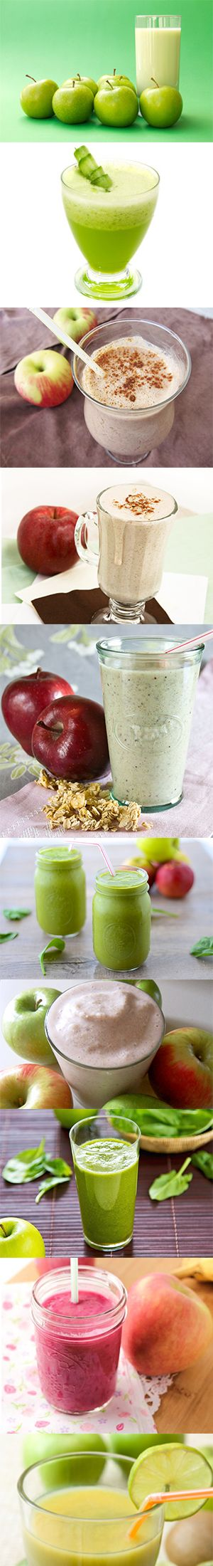 9 Awesome Healthy Apple Smoothie Recipes - One of this Smoothie in the morning and you will be energized all day long.